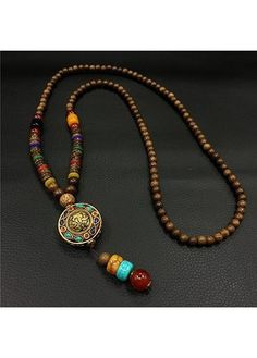 15.01$  Buy here - http://didjm.justgood.pw/go.php?t=163667 - Circle Shape Stone Decorated Pendant Necklace