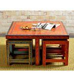 Rangilo Rajasthan Multi Hued Coffee Table Set