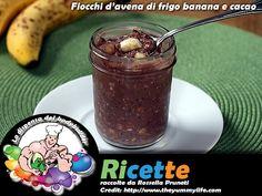 Fiocchi d'avena di frigo banana e cacao