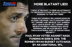 More blatant lies from Paul Ryan.