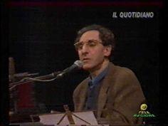 Franco Battiato 1995 al Teatro Parioli di Roma incontra studenti e fans ...