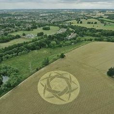 Crop Circle at Old Milverton, Warwickshire, UK - 10 July 2010