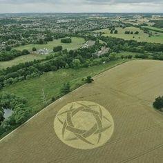 Crop Circle at Old Milverton, Warwickshire, UK - 10 July 2010