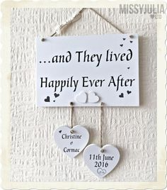Wedding Gift And They Lived Happily Ever After Wooden Plaque