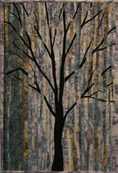 """It's called """"RainQuilt"""", but I have a tree collection and, Wow! Tree Quilt Pattern, Quilt Patterns, Bargello Quilts, Batik Quilts, Appliqué Quilts, Landscape Art Quilts, Quilted Wall Hangings, Wall Hanging Quilts, Tree Patterns"""