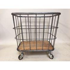 Trolley/basket op wielen, 50x40x50cm, staal