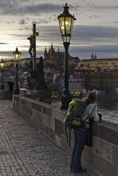 Tourist in Prague, Czech Republic