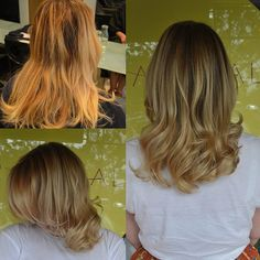 Yet again, another fabulous before and after! 😍😍 Fine hairline foils created with @wellapro . Toned to a soft, sparkly goodness with Colour Touch to neutralise the previous brassy tones 👌  #hairbyemmaobrien #theradicalhairdesign
