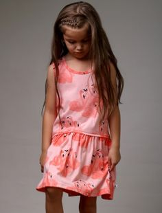 Buy Littlehorn Flamingo Drop Waist Dress