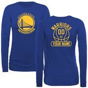 Golden State Warriors Women's Core Issued Personalized Name & Number Long Sleeve Slim Fit T-Shirt - Royal