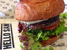 Beef burger at Hello Sam in South Yarra