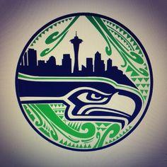 Native american inspired seahawk print native americans for Native american tattoo artist seattle