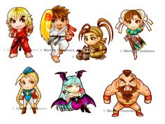 Street Fighter chibi's by bluemonika.deviantart.com on @deviantART