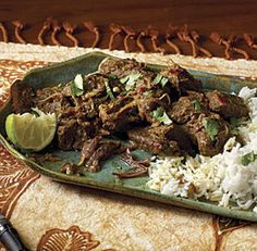 Beef Rendang: Serve this aromatic Malaysian specialty with jasmine or basmati rice. You can also enjoy it with bread, using it as a filling for pita, naan, tortillas, or any other flatbread. Via FineCooking