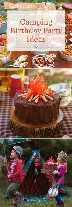 Camping Birthday Party Ideas | Celebrate milestone birthdays with a Camp Way Over the Hill theme party! Includes fun camping party ideas, free printables, recipes and campfire cake instructions.