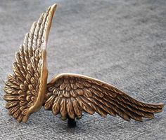 Brass Angel Wing Earrings http://www.aranwensjewelry.com/collections/earrings/products/brass-angel-wing-earrings
