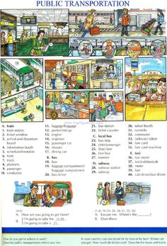 91 - PUBLIC TRANSPORTATION - Pictures dictionary - English Study