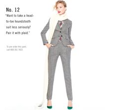 I love houndstooth. I'd have to break the pieces up, but I love this suit.