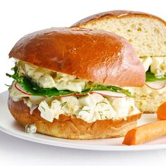 lemony egg salad sandwiches with capers and dill eggs for dinner yes ...