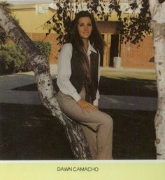 Dawn Camacho - voted Best Looking in the 1979 yearbook of Artesia high school in Lakewood, California.  #Aretesia #Lakewood #yearbook #1979 #BestLooking