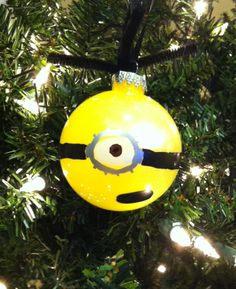 1. Mix paint from Elmer's Painters, Elmer's glue and water inside bulb. Roll around to ensure bulb is completely covered. Turn upside down and leave to dry for 24 hours. 2. Draw on outside of bulb with Elmer's Painters.  And you have a homemade minion!