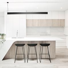 Type of Project: Residential Designers: Homeroom Studio Location: Caufield VIC Completion: July 2017 Kitchen Room Design, Best Kitchen Designs, Modern Kitchen Design, Interior Design Kitchen, Kitchen Decor, Residential Interior Design, Contemporary Interior Design, Residential Lighting, Luxury Interior