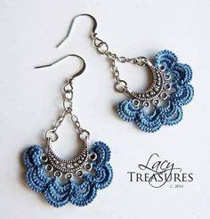Crochet accessories 386535580519877506 - Super Crochet Jewelry Accessories Ideas Source by Tatting Earrings, Tatting Jewelry, Lace Jewelry, Jewelry Model, Textile Jewelry, Jewelry Crafts, Jewelery, Handmade Jewelry, Jewelry Ideas