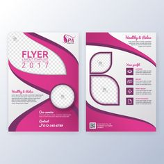Suitable for flyer, brochure, book cover. Pink and white color in size template background with bleeds. spa and beauty salon concept Company Brochure Design, Brochure Cover Design, Booklet Design, Brochure Layout, Book Cover Design, Brochure Template, Flyer Design, Layout Design, Photography Brochure