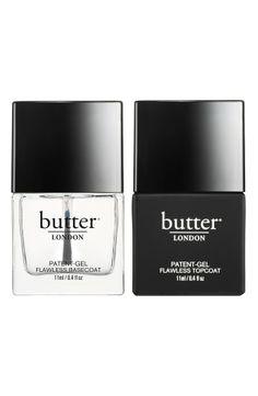 At home gel mani   butter London nail polish