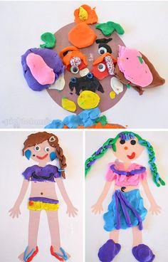 Juegos con plastilina. Manualidades infantiles con plastilina