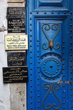 Africa | Lawyer's Office.... another blue door in Tunisia © Ruud van Ruitenbeek.