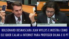 Bolsonaro desmascara Jean Wyllys e mostra como ele quer calar a internet...
