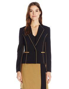 Nine West Women's Stretch Crepe 1 Button Jacket - Choose SZ/Color Suits For Women, Jackets For Women, 1 Button, Jacket Pattern, Jacket Buttons, Cable Knit Sweaters, Nine West, Winter Jackets, Casual Jackets