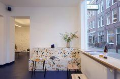 MAX LAMB & STEPHEN KENN DECORATE AMSTERDAM'S NEWEST COFFEE SPOT