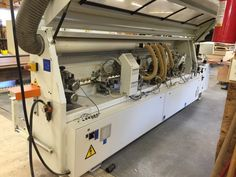 Used Edgebander - SCM Model K 203 ERT  For more information... Phone 678.642.9722 Email sales@firstchoiceind.net Used Woodworking Machinery, Woodworking Tools, Lean Manufacturing, Tubular Steel, Steel Structure, Solid Wood, Home Appliances, The Unit, Phone