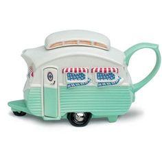 canned ham teapots | Vintage camper teapot. omg adorbs.
