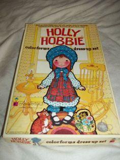 Vintage 1975 Holly Hobbie Colorforms Dress Up Set