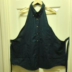 Apron made out of a mans shirt…