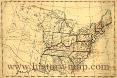Maps From 1800   United States in Early 1800's