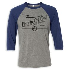 FishOn The Reel Clothing Collection Baseball Tee