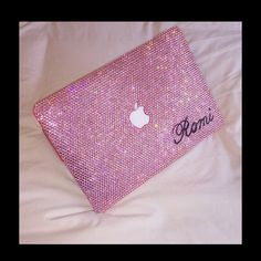 Laptop Case Rhinestone macbook case Handmade light by AlwaysSS Laptop Case Macbook, Laptop Shop, Pink Laptop, Laptop Covers, Tecno, Apple Products, Monogram Initials, Pretty In Pink, Unique Gifts
