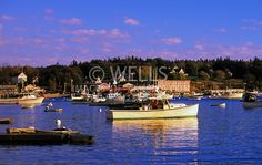 Seaside Towns in New England | Image of Bass Harbor and the small quaint fishing village of Bernard ...