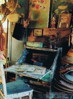 Small corner of an artist's studio - from Trouvais.com