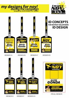 ID Concepts  Designer: Alvin Gilbert Dc. Gonda  Email: abugonda@yahoo.com Id Design, Graphic Design, President Of The Philippines, Campaign Slogans, Presidential Election, Photoshop, Concept, Behance, Graphics
