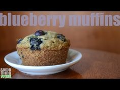 blueberry muffins (vegan and gluten-free) Something Vegan - YouTube