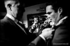 The guys getting a pint in before the ceremony -