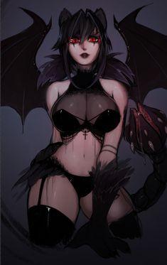 Manticore from Monster Girl Encyclopedia by Matilda Vin - More at https://pinterest.com/supergirlsart #hot #sexy #anime #girl #monstergirl #art