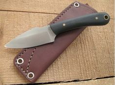 Knives By Maker :: LT Wright Handcrafted :: Great Plainsman :: LT Wright Knives: Great Plainsman (Saber Grind) D2 Steel Fixed Blade Camping Knife w/ Black Canvas Micarta Handle - Matte Finish