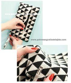 Tutorial Bolso de Mano Técnica Tapestry / Jackard crochet / Paso a paso DIY | Crochet y Dos agujas
