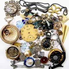 Steampunk Watch Parts Vintage & NOS Jewelry by DKayCollection, $26.99
